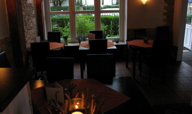 Charming wood-panelled restaurant