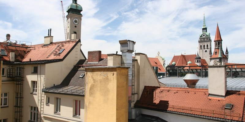 helles Studioloft - Blick über die Altstadt