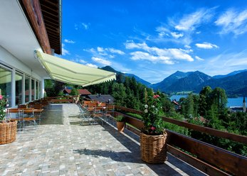 Location overlooking the Schliersee Lake and mountains
