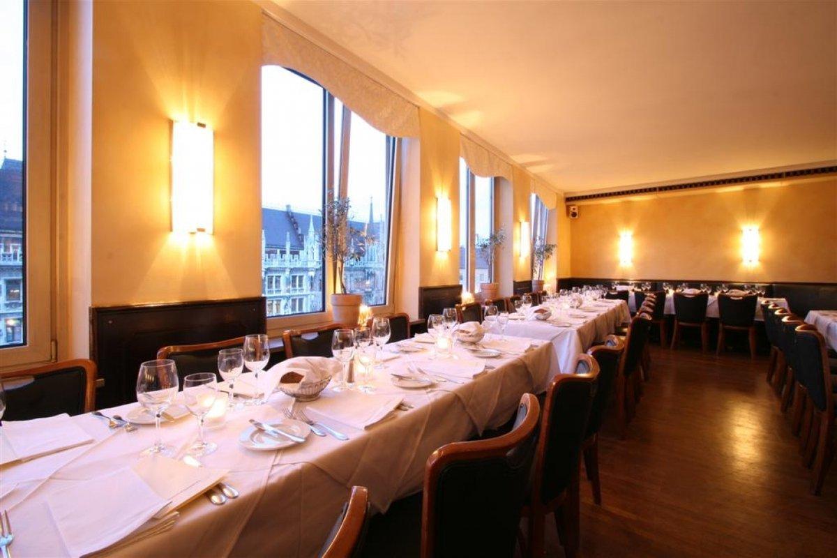 Location Edles Restaurant M Blick Auf Rathaus In M Nchen