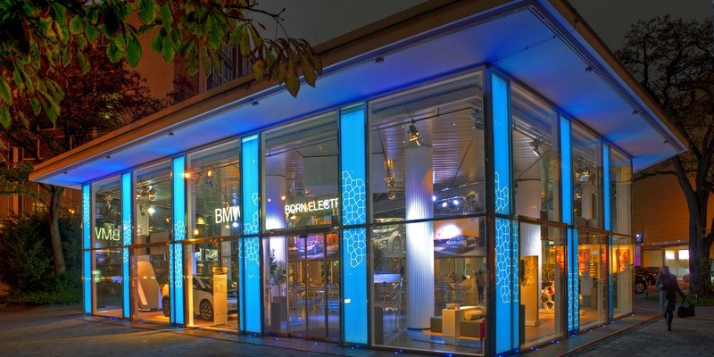 Glas-Pavillon für Events in zentraler Lage