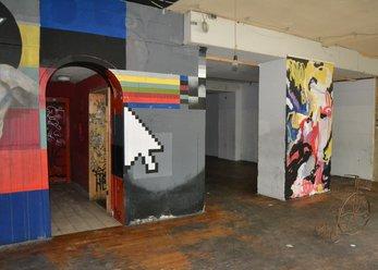 Former club location with graffiti